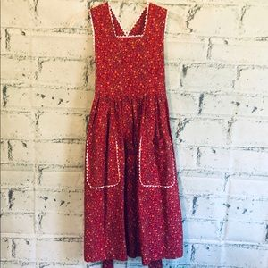 Other - Girls Pioneer apron dress Little House costume 10